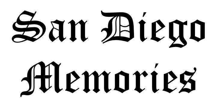San Diego Memories