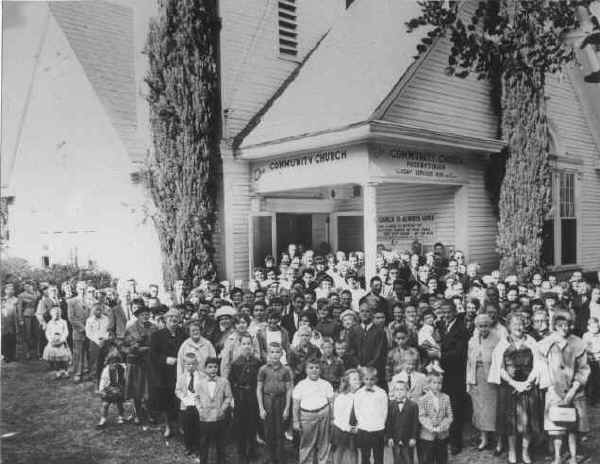 Lakeside Community Presbyterian Church Congregation c.1962
