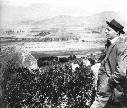 Ed Fletcher overlooking El Cajon Valley c.1908