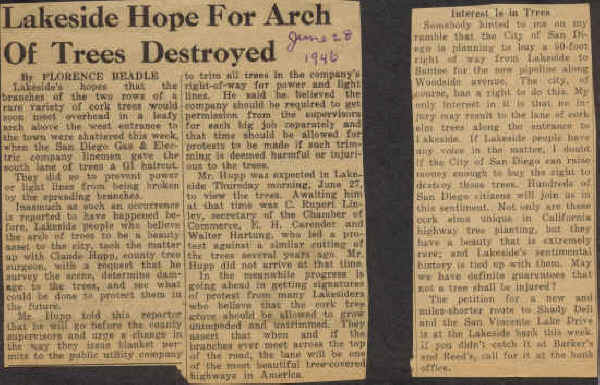 Hope for Arch destroyed 1946