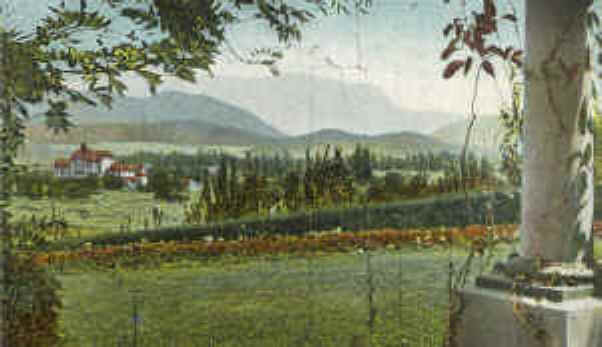 Lakeside & Inn from Klein home (postcard) c.1905