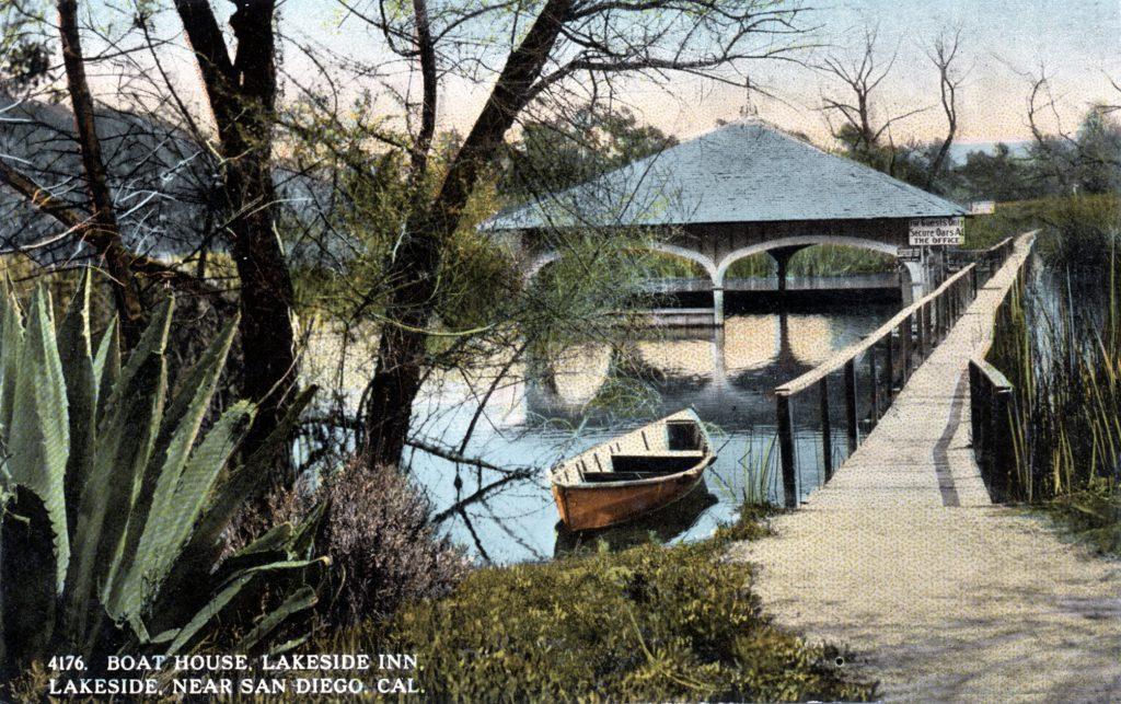 The Lakeside Boathouse - 1910c - Boathouse RPPC (ISOM)