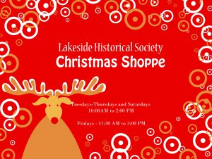 Lakeside Historical Society Christmas Shoppe 2019